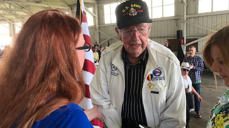 """James """"Bud"""" Mynatt Jr, honored for his military service"""