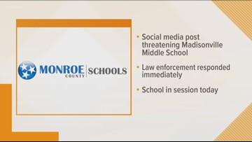 Suspect in custody for posting school threats online, Monroe County Schools says