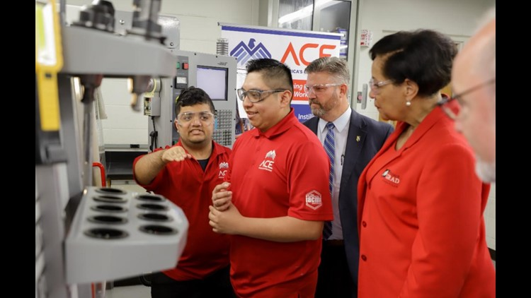 Five Fulton High School teens attend machining boot camp at Pellissippi State