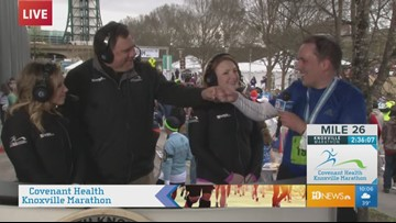 10News producer, veteran Tom Barclay finishes 2019 Covenant Health Knoxville Marathon