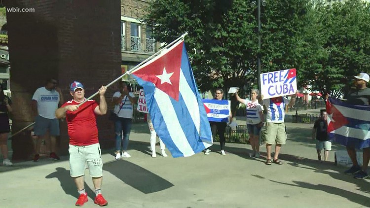 'Putting in God's hands that this is it' | East Tennesseans rally in Knoxville to push for a free Cuba
