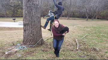 West Knoxville cat stuck in a tree for almost a week rescued Tuesday morning