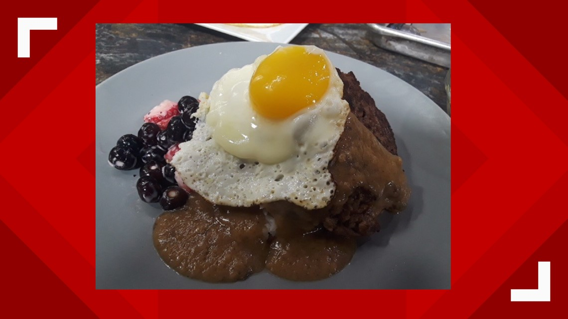 Loco Moco is an original recipe from Hawaii now served in East Tennessee