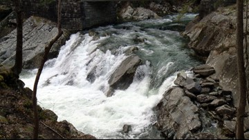 Use caution around these Smokies waterfalls when there is heavy rain