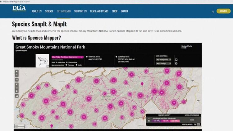 DLIA Species SnapIt & MapIt project mapper smartphone app