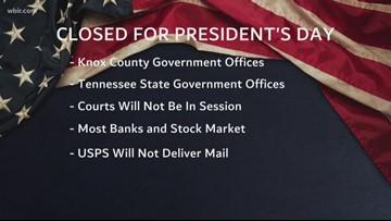 President's Day closings