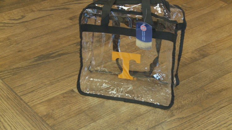 Clear bag from VolShop.