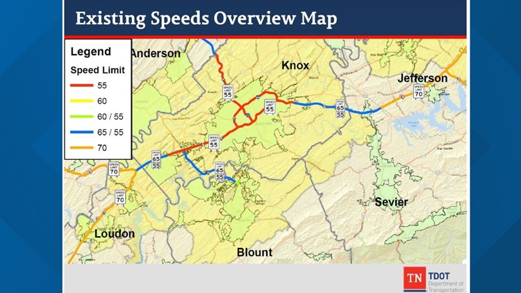 New speed limits on Knoxville area interstates