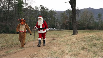 Santa's helpers opt outside in the Smokies