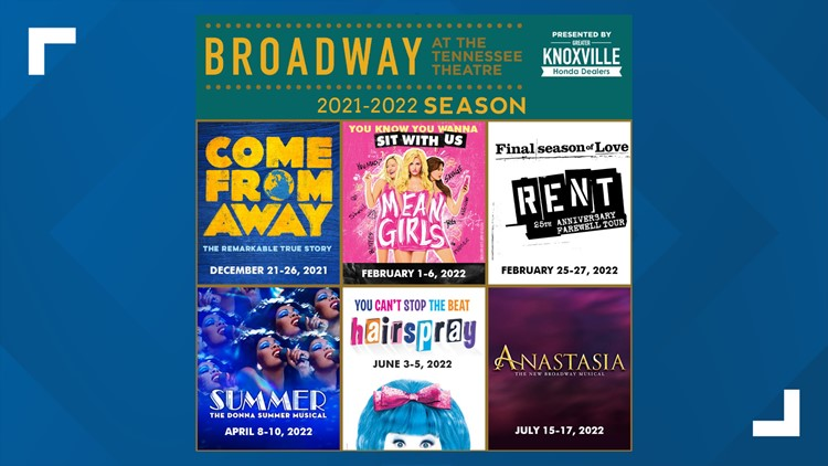 Tennessee Theatre announces Broadway lineup