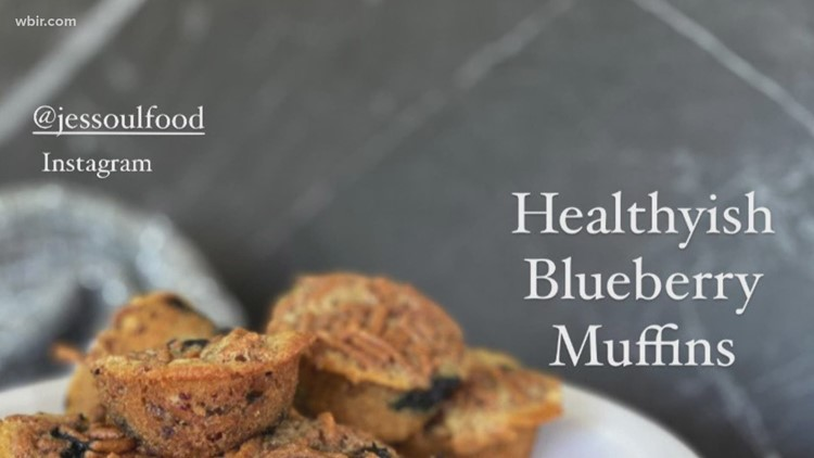 Healthy(ish) Blueberry Muffins