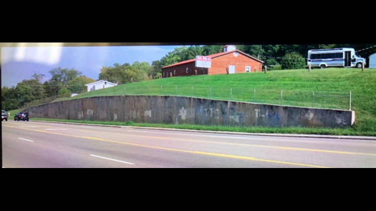 Jefferson City retaining wall