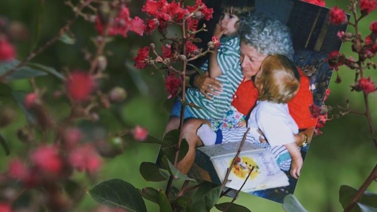 Helen Mills holding her grandchildren. Courtesy Debbie Segar
