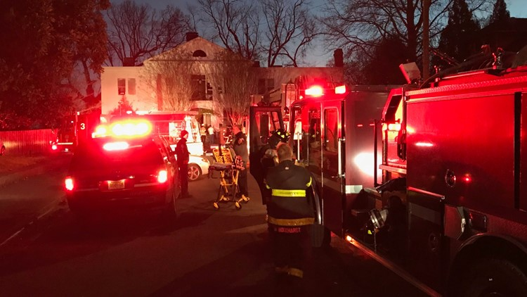 KFD crews work a house fire in Old North Knoxville Courtesy KFD