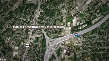 City getting public input on ways to improve North Broadway intersection at Hall of Fame Drive