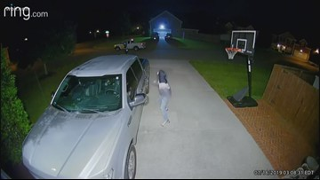 Security camera shows armed man at Knox County car