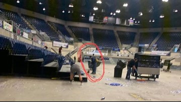 Country star Tyler Childers helps crews clean up after Kentucky show