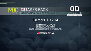 10TakesBack: WBIR and MDC collect 600 pounds of medicine during annual drug take-back