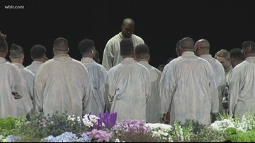 Kanye West spreads the gospel in Pigeon Forge