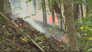 Video: Crews fight blaze in Daniel Boone National Forest