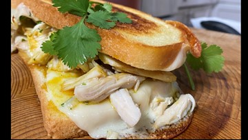 Hot Honey Curry Chicken Grilled Cheese