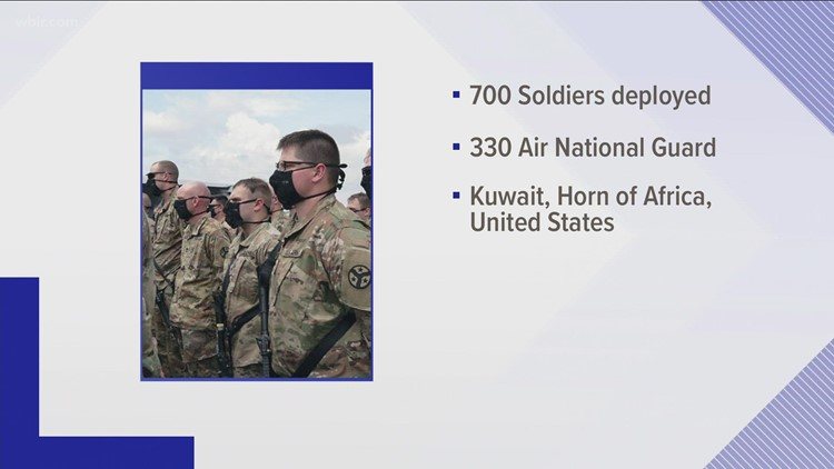 Around 700 soldiers and 330 Air National guardsmen deployed from Tennessee after 9/11