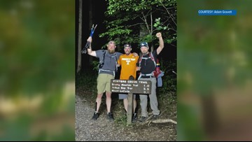 Three friends finish The Tour de LeConte