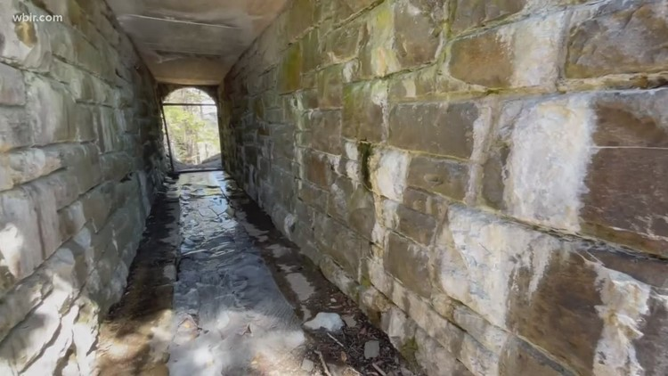 Who knew there was a secret tunnel under Clingman's Dome Road?