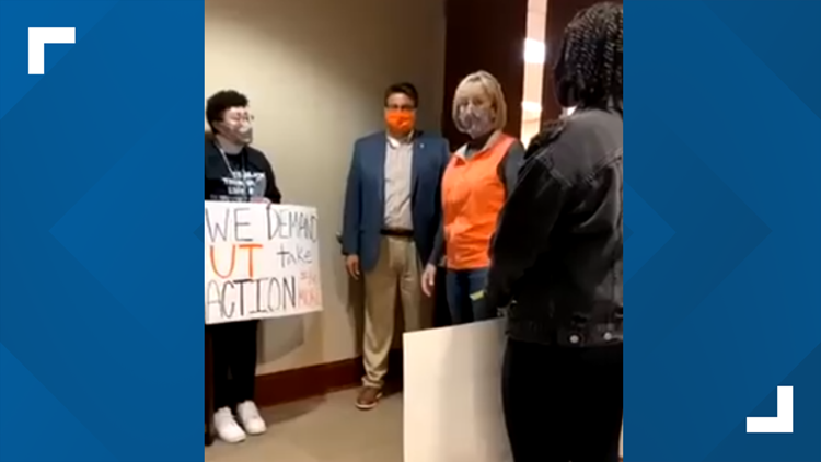 UT Chancellor plans for in-person meeting with students after protest over lecturer accused of racism