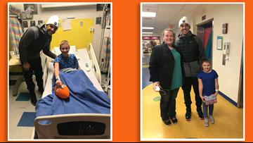 UT quarterback Jarrett Guarantano brings smiles to children at East Tennessee Children's Hospital