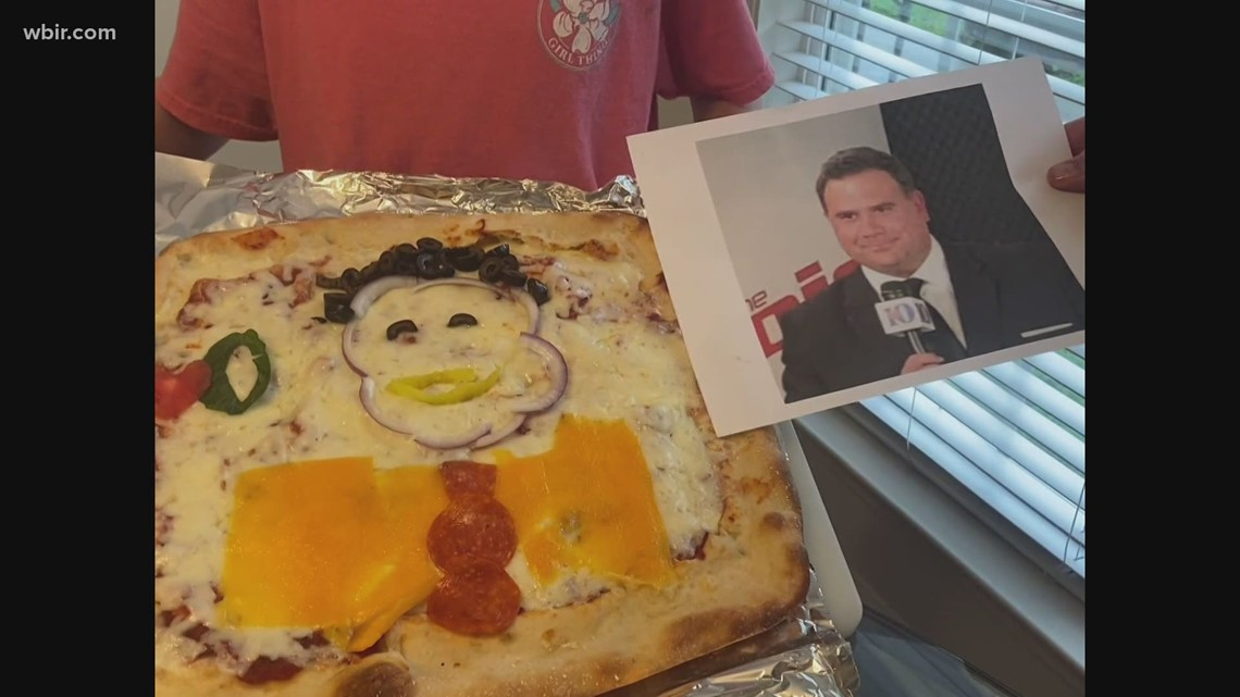 Pizza art pays tribute to Russell Biven