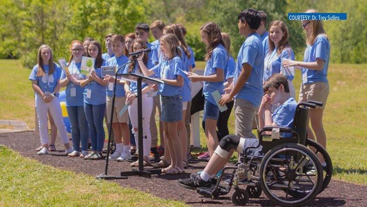 Students made sure the trail would accommodate wheelchairs