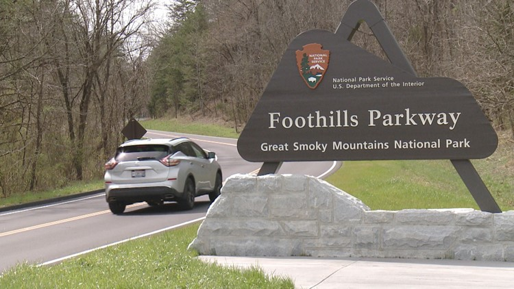 Foothills Parkway Entrance Missing Link Wears Valley Great Smoky Mountains