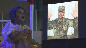 3-year-old girl refuses to turn 4 until she sees her deployed military dad