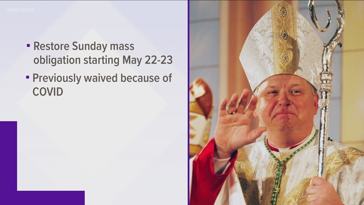 Knoxville Diocese urges people to return to Mass starting in May