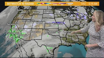 Cool start to the day with temps warming into the mid 40's, mostly sunny skies with a few passing clouds, high of 44