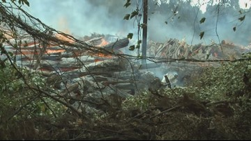 Crews continue to put out hot spots following fire north of McGhee Tyson Airport; blaze is contained