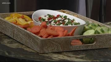 In the kitchen: healthy layered Mediterranean dip