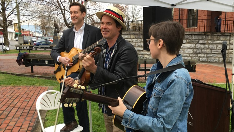 Musician Ketch Secor of Old Crow Medicine Show in March in Sevierville.