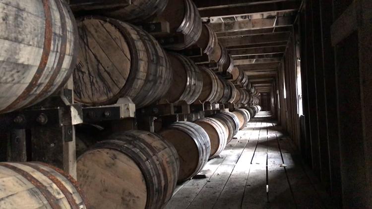 barrel house at the Jack Daniel's distillery
