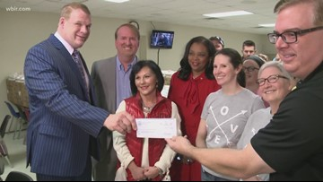 The Love Kitchen gets donation from Mayor Jacobs