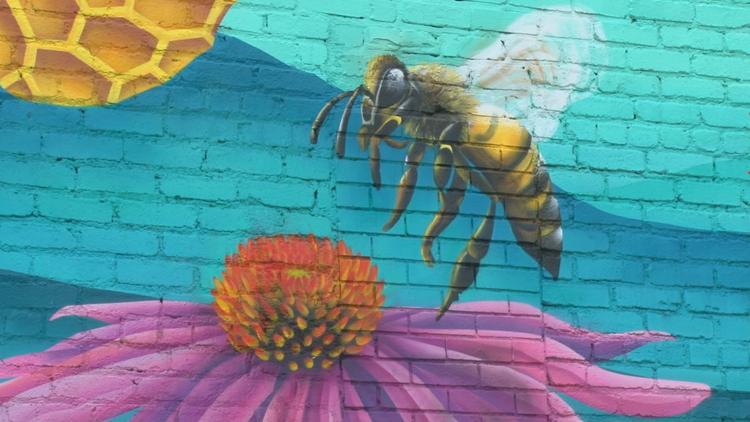 New Central Street mural