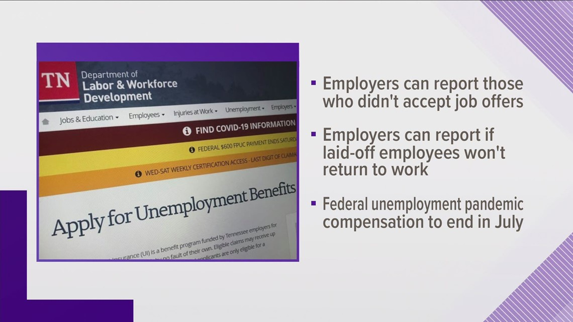 TN investigating unemployed people who aren't accepting new job offers