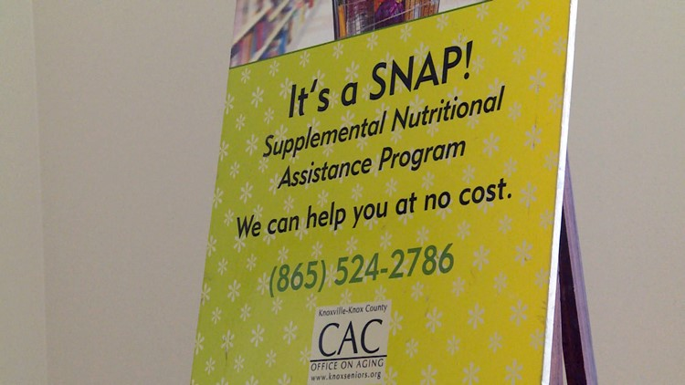 SNAP Sign CAC Knoxville Supplemental Nutritional Assistance Program
