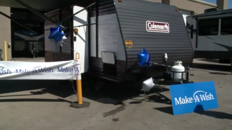 4-year-old boy with severe heart condition receives camper in Alcoa through Make-A-Wish