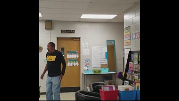 TN students surprise deaf custodian by signing Happy Birthday
