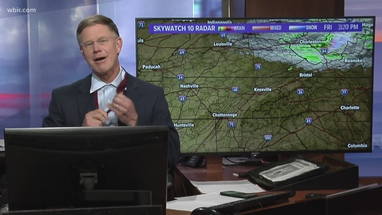 Todd Howell removes 'Colgate-colored tie' on live TV after the Vols win game 1 in NCAA tournament