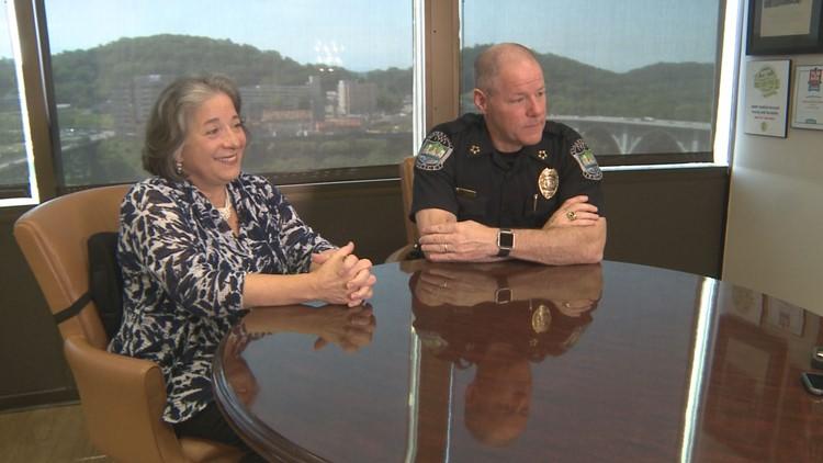 Mayor Madeline Rogero and Police Chief David Rausch