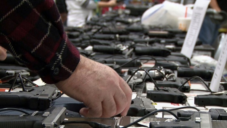 Handguns for sale at Chilhowee Park Gun Show Knoxville