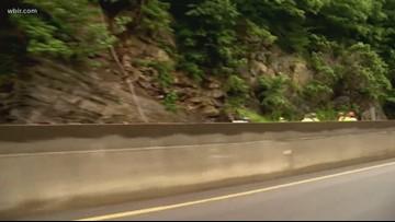 Crews work to clear I-40 rockslide